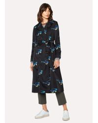 Paul Smith - 'Sunglasses' Print Trench Coat - Lyst
