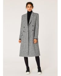Paul Smith - Dogtooth Wool-Blend Double-Breasted Coat - Lyst