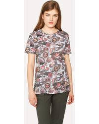 Paul Smith - White 'Psychedelic Sun' Print T-Shirt - Lyst