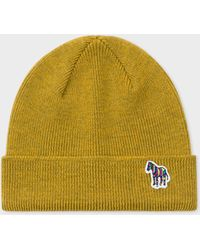 8f6f6c8eeee Oliver Spencer Mustard Cable Knit Woolblend Beanie Hat in Yellow for ...