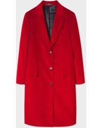 Paul Smith - Red Corduroy Cotton-Blend Epsom Coat - Lyst
