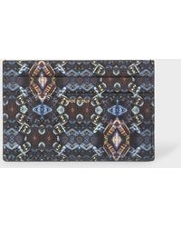 Paul Smith - Black 'Mini Kaleidoscope' Print Leather Credit Card Holder - Lyst