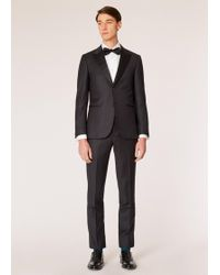 Paul Smith - The Soho - Tailored-fit Dark Grey Waffle Wool Evening Suit - Lyst