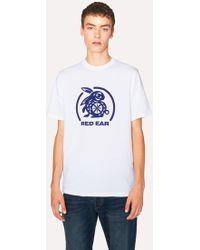 Paul Smith - White Red Ear 'Navy Rabbit Logo' Print T-Shirt - Lyst