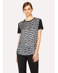 Paul Smith | Women's Black 'Lucky Animals' Print T-Shirt | Lyst