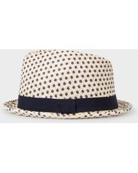 Paul Smith - Polka Dot Trilby Hat - Lyst