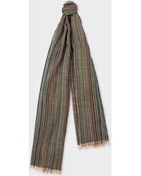 Paul Smith - Signature Stripe Mercerised Wool Scarf - Lyst