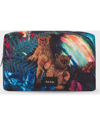 Paul Smith - 'Explorer' Print Canvas Wash Bag - Lyst