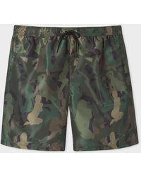 Paul Smith 'lady' Camouflage Long Swim Shorts - Green