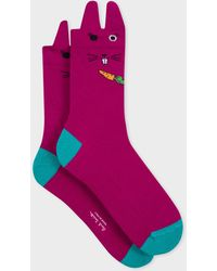 Paul Smith Dark Fuchsia Rabbit Ear Socks