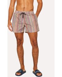 934fbbe92e61 Paul Smith Men's Signature Stripe Cotton Boxer Shorts for Men - Lyst