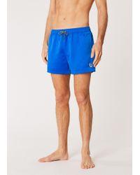 Paul Smith Blue Zebra Logo Swim Shorts