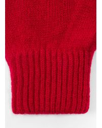 Paul Smith - Red Cashmere-Blend Gloves - Lyst