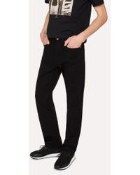 Paul Smith - Standard-Fit 12oz 'Super Black' Stretch-Denim Zip Fly Jeans - Lyst
