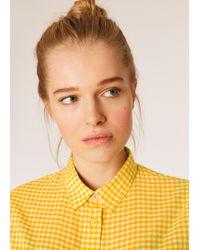 Paul Smith - Yellow Gingham Cotton Shirt - Lyst