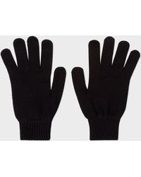 Paul Smith - Black Cashmere And Merino Wool Gloves - Lyst