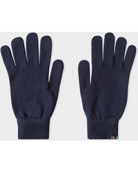 Paul Smith - Navy Lambswool Gloves - Lyst