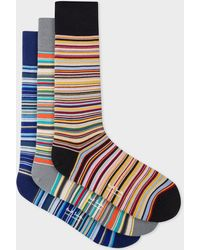 Paul Smith - Signature Stripe Socks Three Pack - Lyst
