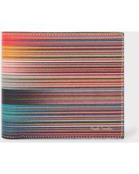 Paul Smith Mixed-stripe Leather Billfold Wallet