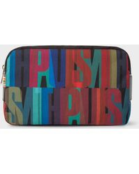 Paul Smith - '' Print Canvas Wash Bag - Lyst