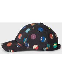 Paul Smith - Black 'cycle Dot' Print Baseball Cap - Lyst