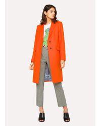 Paul Smith - Orange Wool-Cashmere Epsom Coat - Lyst
