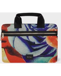"""Paul Smith - 'Rose Collage' Mesh 13"""" Laptop Sleeve - Lyst"""