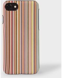 Paul Smith - Signature Stripe Leather iPhone 7/8 Case - Lyst