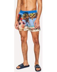 Paul Smith - Men's Martin Parr 'beach' Print Swim Shorts - Lyst