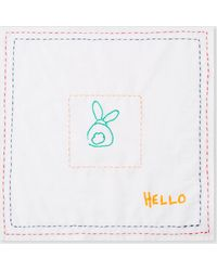 Paul Smith - White Doodle Pattern 'Hello' Pocket Square - Lyst