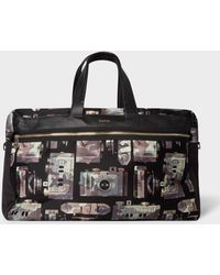 Paul Smith - Camouflage  Paul s Camera  Print Canvas Weekend Bag - Lyst 170c7d53f