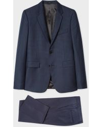 Paul Smith - The Kensington - Slim-Fit Navy Houndstooth Loro Piana Wool Suit - Lyst