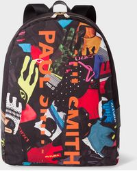 Paul Smith -  Cycle Gloves  Print Canvas Backpack - Lyst 6edfc4c74