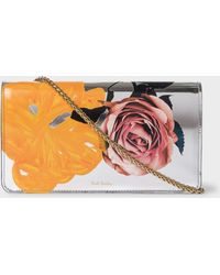 Paul Smith - Silver 'Rose' Leather Clutch Bag - Lyst