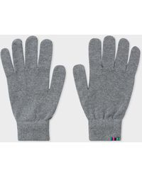 Paul Smith - Grey Lambswool Gloves - Lyst