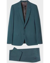 Paul Smith - The Soho - Tailored-Fit Petrol Wool And Mohair Suit - Lyst