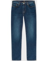 Paul Smith - Tapered-Fit 12oz 'Authentic Comfort Stretch' Dark-Wash Jeans - Lyst
