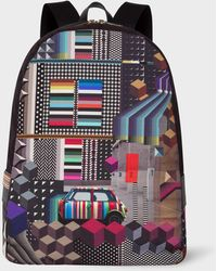 Paul Smith - 'Geometric Mini' Print Canvas Backpack - Lyst
