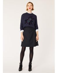 Paul Smith - Dark Navy Wool-Twill 'A Skirt To Travel In' - Lyst