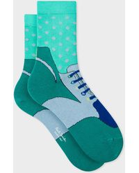 Paul Smith - Green 'trainer' Pattern Socks - Lyst
