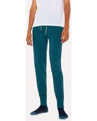 Paul Smith - Teal Jersey Cotton Lounge Trousers - Lyst