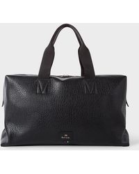 Paul Smith - Black Grained Leather Duffle Bag - Lyst