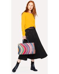 Paul Smith - Women's Black Wool-Blend Skirt With 'Psychedelic Sun' Jacquard - Lyst