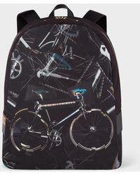 Paul Smith - 'Paul's Bike' Print Canvas Backpack - Lyst