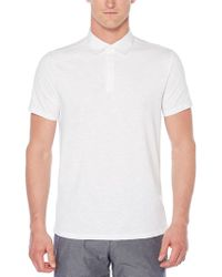 Perry Ellis - Short Sleeve Slub Polo - Lyst