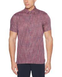Perry Ellis - Big & Tall Button-down Space Dye Shirt - Lyst