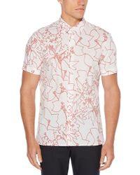 Perry Ellis - Short Sleeve Tropical Floral Print Shirt - Lyst