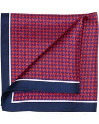 Perry Ellis - Houndstooth With Border Pocket Square - Lyst