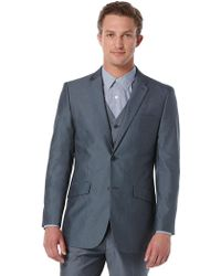 Perry Ellis - Slim Fit Chambray Suit Jacket - Lyst