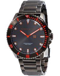 Perry Ellis - Deep Diver Gunmetal Stainless Steel Watch - Lyst